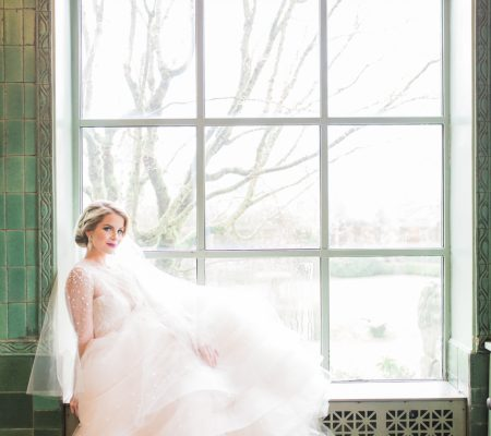 Toronto fine art film photographer Muguet Photography | spring bridal session at Hycroft Manor